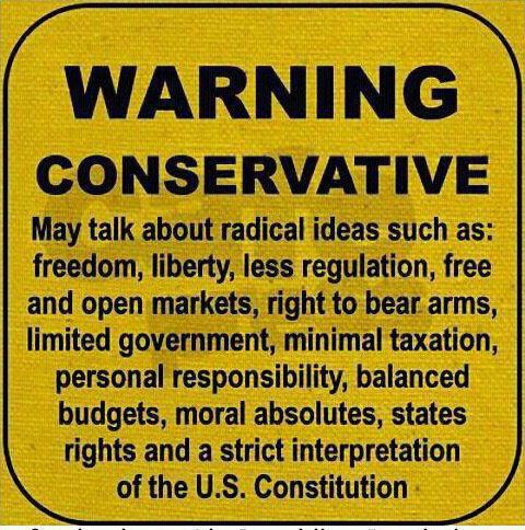 Warning:  Conservative Danger to Liberal Agenda